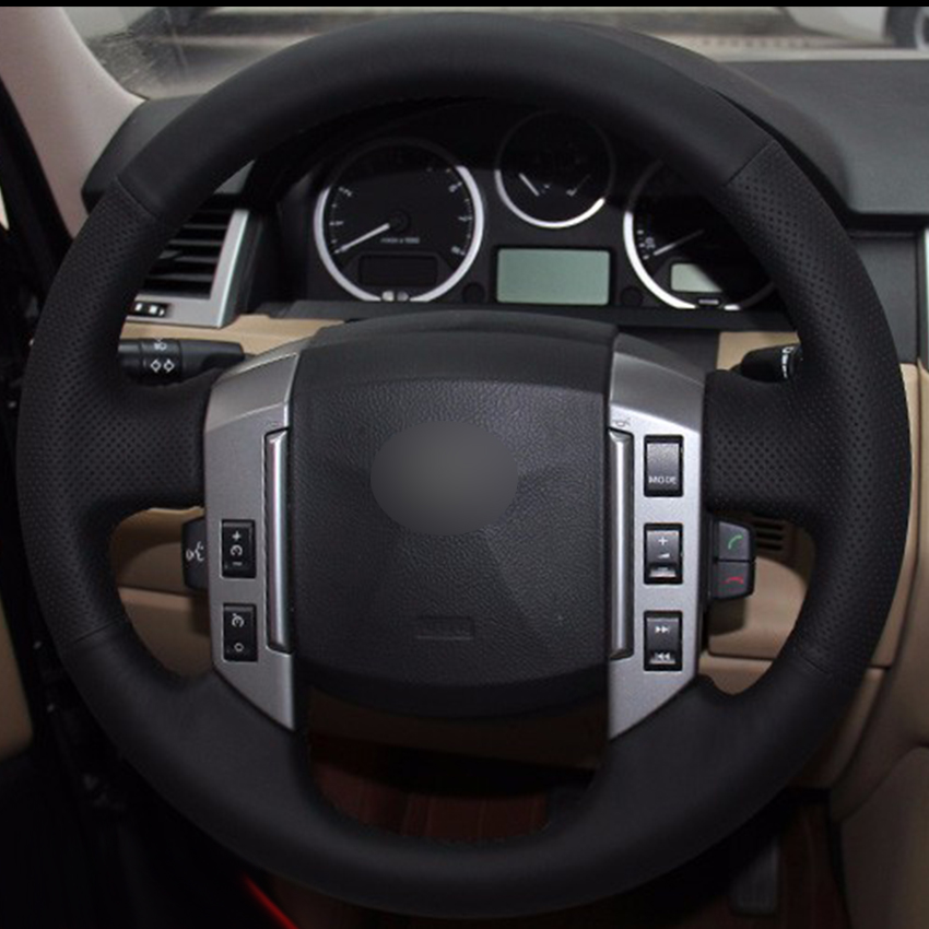 2008 Land Rover Range Rover Sport Interior: Black Synthetic Leather Car Steering Wheel Cover For Land