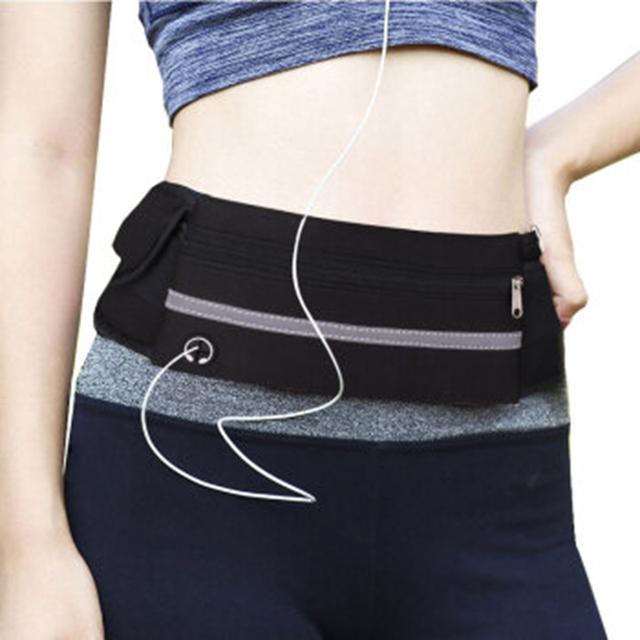 Outdoor Running Waist Bag Waterproof Mobile Phone Holder Jogging Belt Belly Bag Women Gym Fitness Bag Lady Sport Accessories