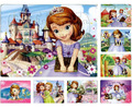Hot Selling 40Pcs Cartoon Puzzle Sofia Princess Paper Jigsaw Puzzles Girls Children Early Educational Toys