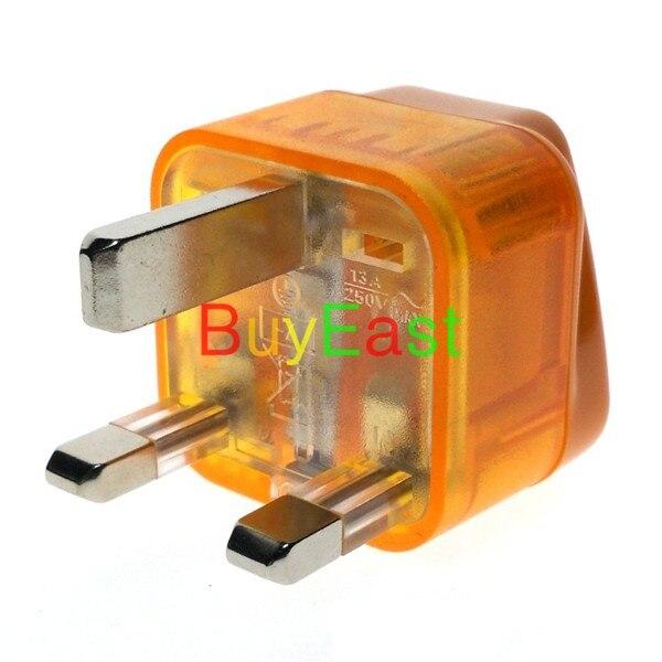 2 X Wonpro UK, Singapore, Hong Kong, Malaysia, Brunei UAE Travel Adapter Type G Plug w/ Surge protector