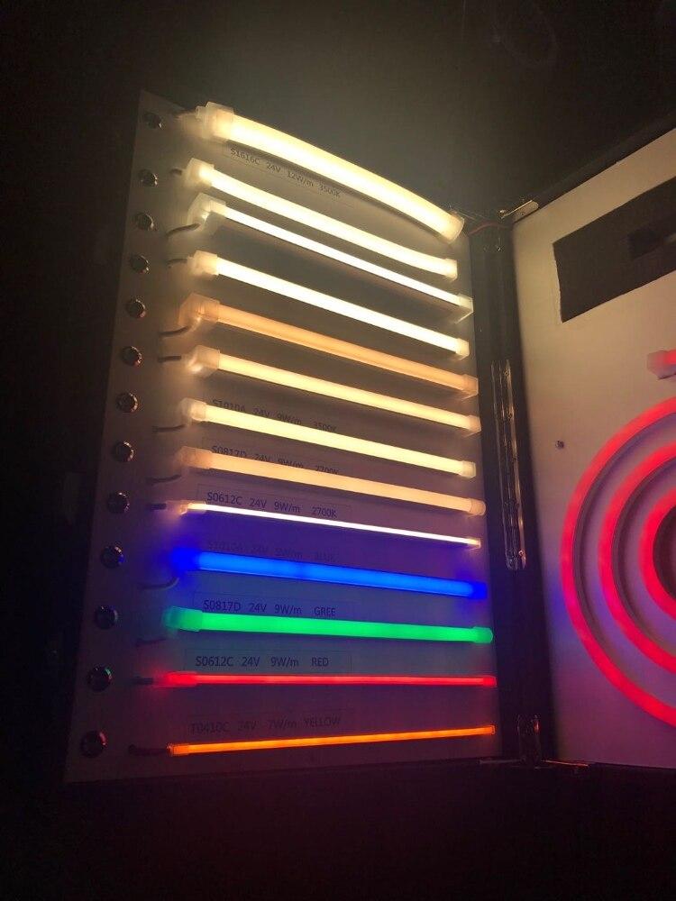 24VDC 9 Вт 5 м/рулон яркий светодиодный прожектор неоновые полоски горизонтальный изгиб гибкие теплые белые светодиодные неоновые полосы для офиса