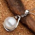 Sinya pérola gargantilhas colar pingente 925 prata esterlina para mulheres Garantia de mão-polido belas jóias com caixa de 18 polegadas cadeia