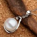 Sinya perla gargantillas para las mujeres collar colgante de plata de ley 925 de Garantía de mano-pulido caja de joyería fina con 18 pulgadas cadena