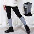 Nova chegada do outono meninas leggings crianças calças bonito lazer crianças de veludo quente legging menina calças listradas das crianças varejo