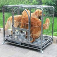 LK1614 Galvanized Thick Square Tube Pet Cage Teddy Cat Dog Kennel Large Size Breathable Pet House with 2 Doors