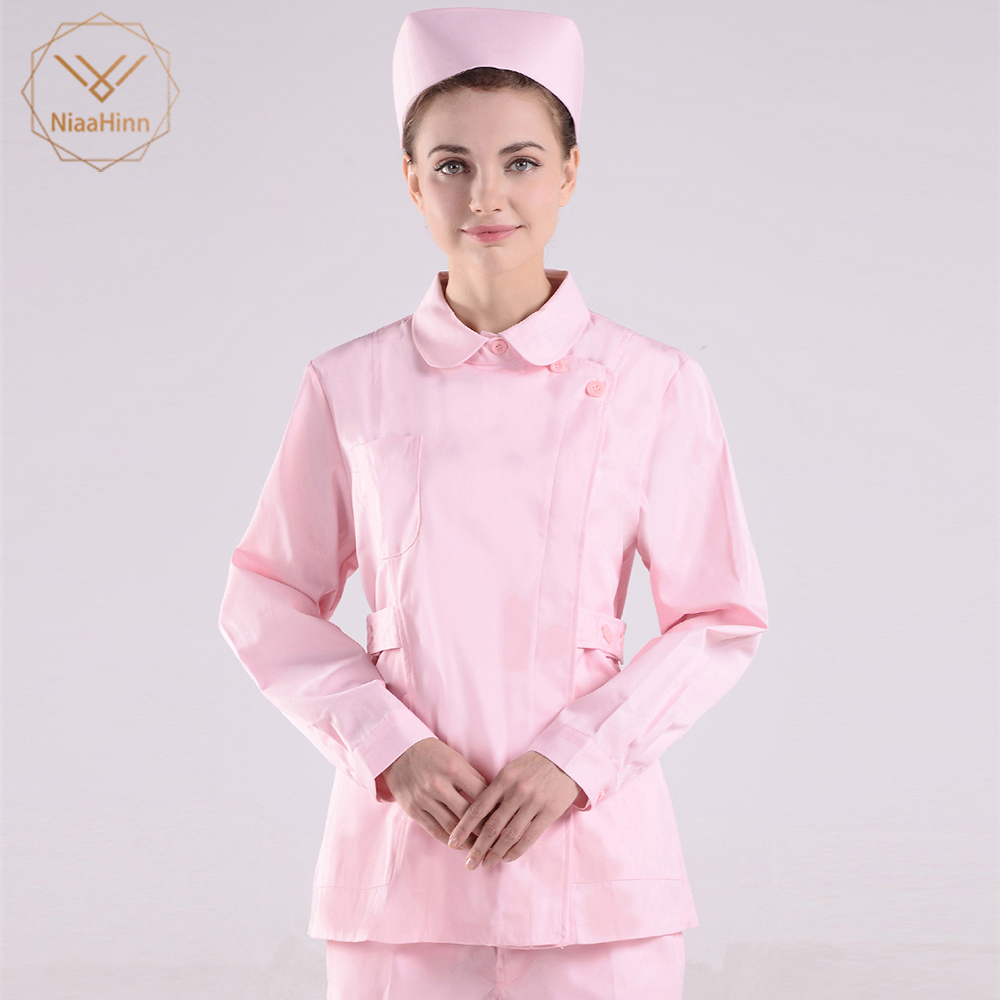 New Medical Scrubs Set Nursing Uniforms Medical Clothing Dental Clinic Nursing Scrubs Women Hair Dresser Nurse Medical Uniform