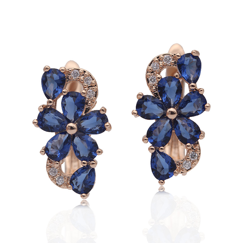 HTB1Ef MKkOWBuNjSsppq6xPgpXay - PATAYA New Water Drop Plum Blossom Dangle Earrings Women Fashion Trendy Jewelry 585 Rose Gold Petal Natural Zircon Blue Earrings