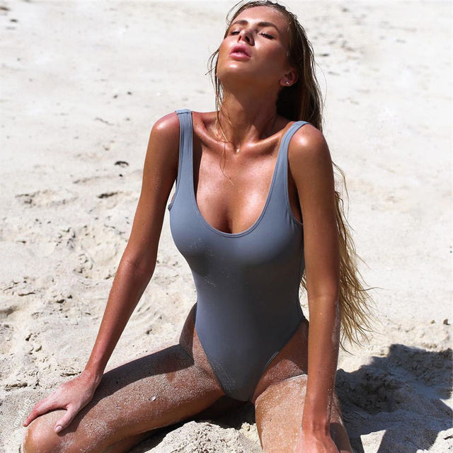 d0d4fe363a9f1 Sexy High Cut One Piece Swimsuit Women Backless Trikini 2018 Swimwear Thong  Bathing Suit Female Monokini bodysuit Beachwear lady