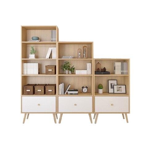 US $809.99 10% OFF Bookcase Living Room Furniture Home Furniture wood  bookshelf drawers storage rack cabinet book stand modern minimalist new  hot-in ...