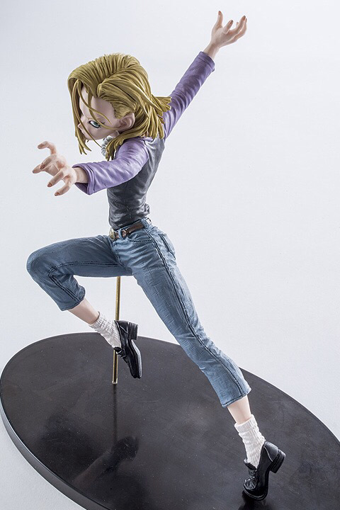 18CM Dragon Ball Z Android 18 Lazuli Action Figure PVC Collection figures toys for christmas gift brinquedos with Retail box цена