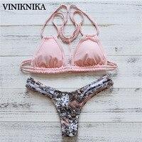 VINIKNIKA Swimwear Summer Women Bikini Suit Push Up Biquinis Sexy Beach Swimsuit Split Sling Pure Hand