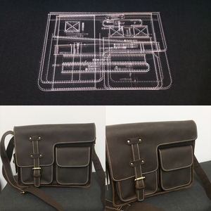 1 Набор DIY акриловый кожаный шаблон для дома ручная работа кожевенное ремесло шитье шаблон инструменты аксессуар сумка на плечо 310x240x100мм