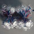 30 mm endereçável rgb DMX512 led fonte de luz módulo ; 3 LEDs / módulo, 20 modules / string, Entrada dc12v, À prova d ' água ip67, Tampa transparente