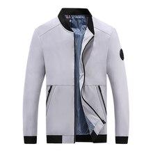 Jacket new men's solid color casual jacket men's bomber jacket brand clothing men's fashion big standard stand collar jacket