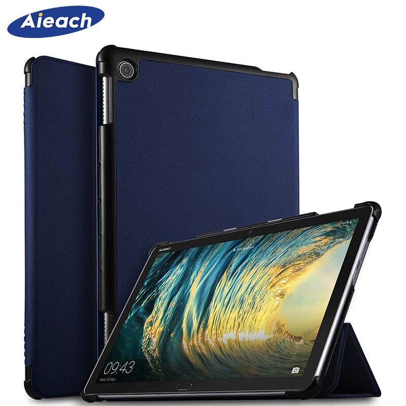 Ultra delgado caso de Huawei MediaPad M5 lite 10 Smart De Cuero de la PU cubierta magnética para Huawei MediaPad M5 lite 10,1 BAH2-W19/L09/W09
