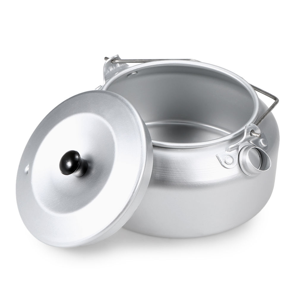 /Ultralight Aluminum Camping Pot Kettle Camping Water Kettle Outdoor Coffee Pot Teapot Outdoor Tableware Cookware for Picnic BBQ