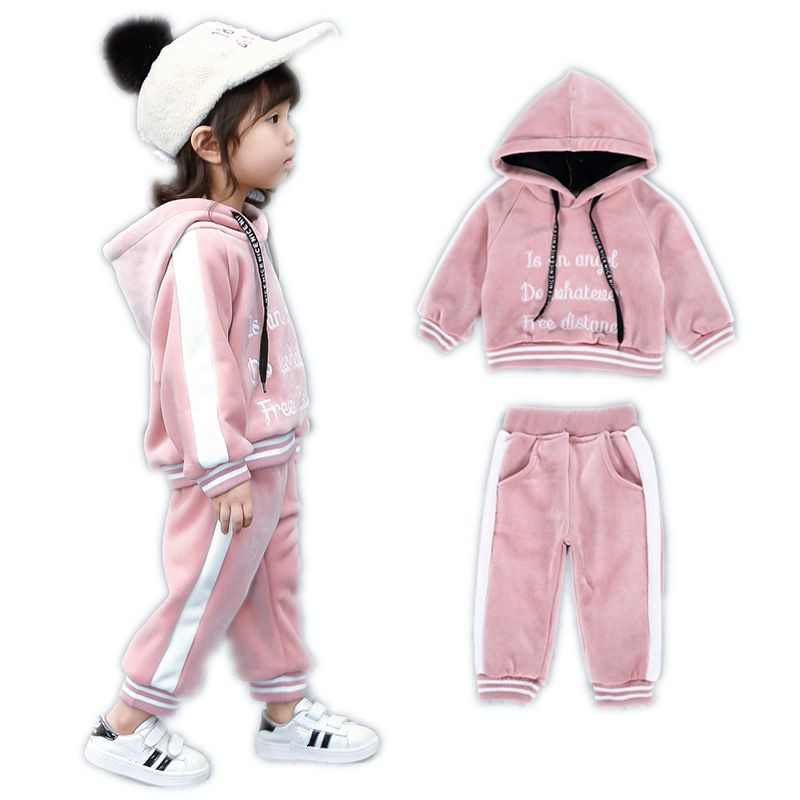 Toddle Tracksuit Girls Cotton Suits Kids Hoodie Long Sleeve Jacket Baby Boys Letter Sport Sets Childrens Casual Costume Clothes 2017 new boys clothing set camouflage 3 9t boy sports suits kids clothes suit cotton boys tracksuit teenage costume long sleeve