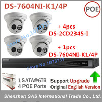 CCTV Kits System Hikvision DS 7604NI K1 4P Network Video Recorder Play For H 265 4pcs