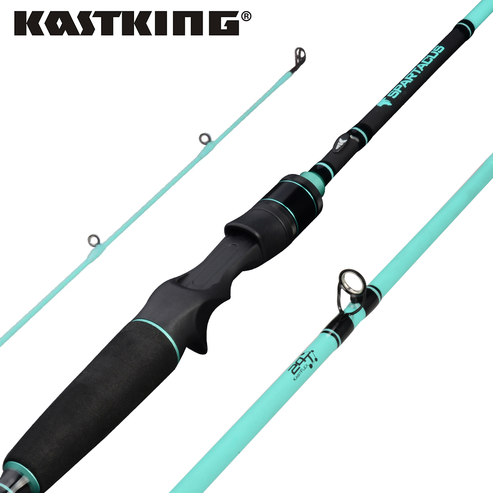 KastKing Spartacus Rod Carbon Body Casting Fishing Rod with 2 Rod Tips 1.98m 2.13m Baitcasting Rod for Squid Pike Fishing pole