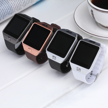 ФОТО Big Sale Bluetooth Smart Watch Support SIM TF Card Wristwatch  Android and IOS Phone Camera Pedometer PK DZ09 GT08 Men Women