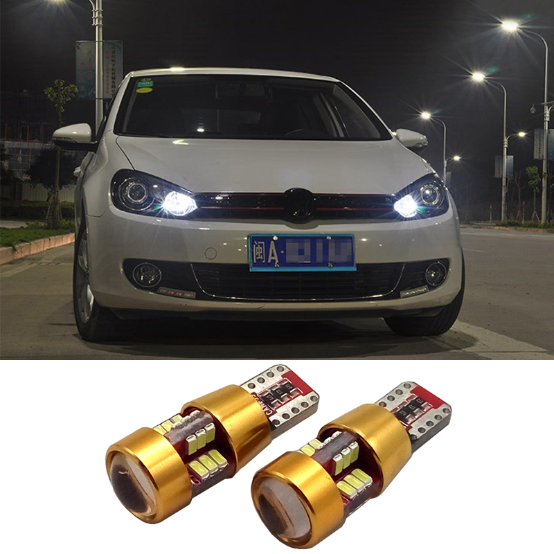 2 x LED Canbus T10 W5W 3014 27SMD Car LED Light Lamp Bulb Interior For VW Tiguan Scirocco Passat b6 b7 Jetta Golf 5 6 7 MK5 CC high bright car headlights led bulb d33 h1 free canbus auto led white headlamp with yellow lights for vw jetta volkswagen golf 6