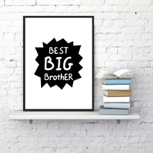 Best Big Brother Quote Print Boys Room Wall Art Decor Canvas Poster Definition Painting Playroom Prints