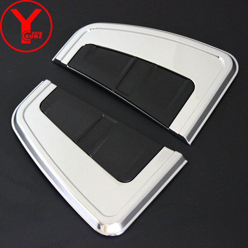 chrome side wind cover For Toyota Fortuner AN160 HILUX SW4 2015 2016 2017 vent side wind ...