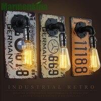 Creative iron sheet Industry Wall Lamp Bar Aisle Corridor Restaurant Bedroom Bedside Lamp.AC:110-240V.