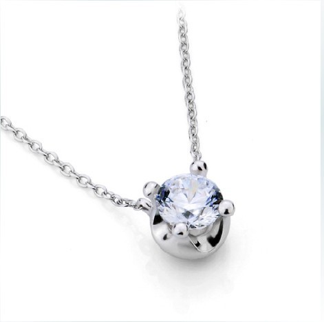 diamond solid white necklace silver round finish pendant synthetic cut sterling in from allergenic brilliant item gold non jewelry diamonds carat pendants