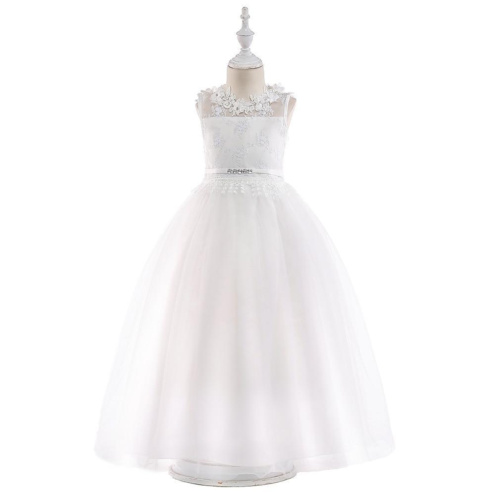 Blush Tutu Flower Girls Dresses Puffy Full length Little Toddler Infant Wedding Party Girl Communion Dress 2018
