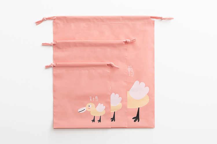 ETya wielofunkcyjne kobiety kosmetyczne torba pcv Cartoon śliczne sznurek makijaż organizator zestaw podróży kosmetyczka ubrania kosmetyczka do kąpieli torby