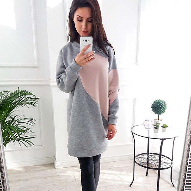 2017 New Desigual Spring Women Long Sleeve Warm Dress Sweatshirt ...