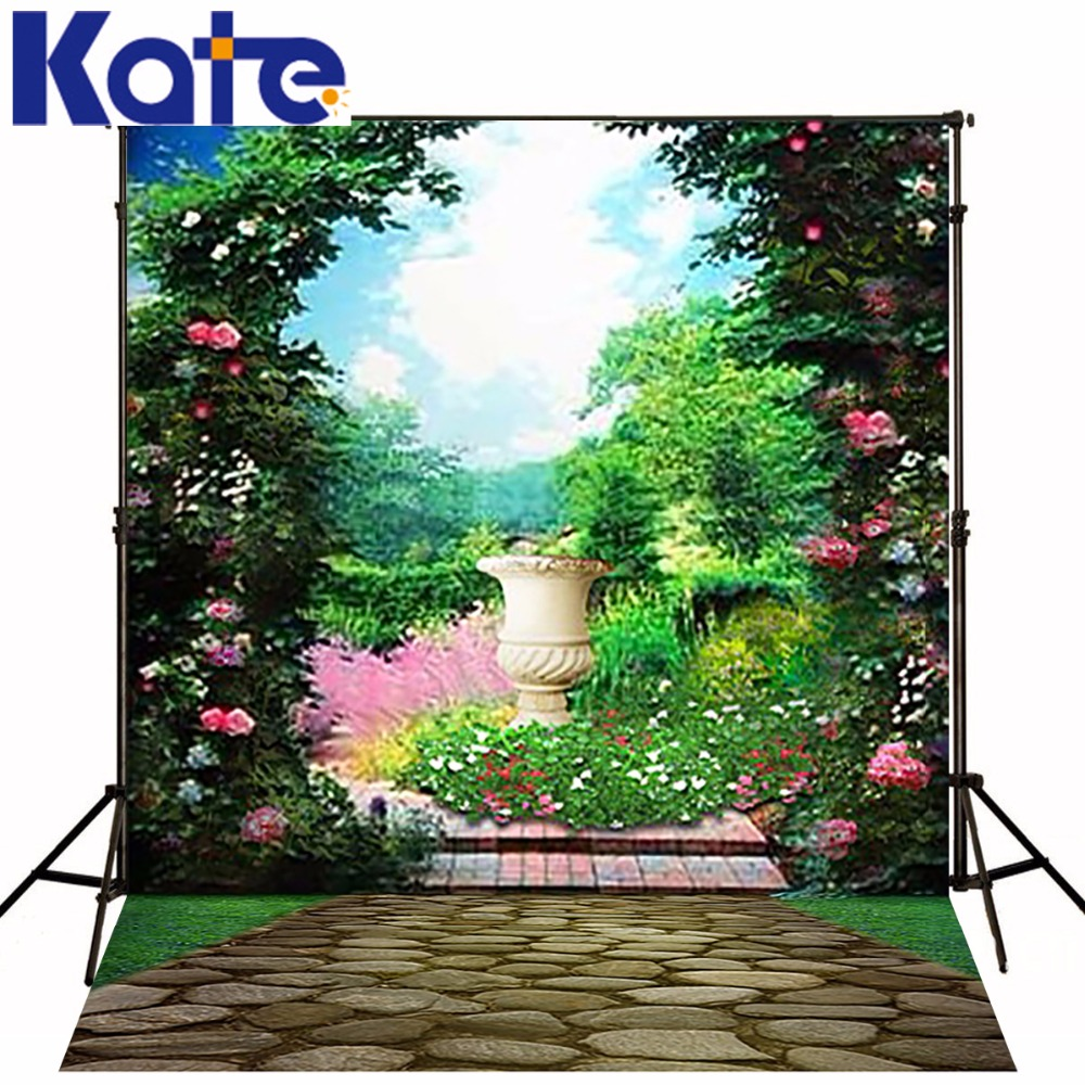 300CM*200CM(about 10ft*6.5ft) Background Garden Arches Stone Road Photography Backdrops Photography Backdrop 3423 LK deglingos original мягкая игрушка бегемотик hippipos