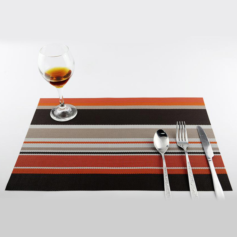 6 шт. ПВХ обеденный стол салфетки теплоизоляция Посуда Pad Coaster кофе, чай коврики FP8