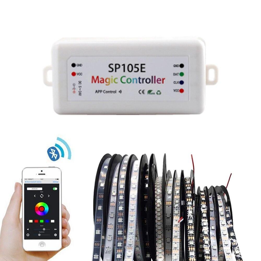 Rgb Led Bluetooth Controller For Ws2811 Ws2812b Pixels Led Strip Light Lamp Sp105e Dc5v 24v