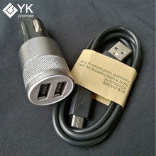 1 piece 2.1A/1A Dual USB Mini Car Charger Adapter Phone Car Chager + 1 piece Micro USB Cable For Samsung Android Phone