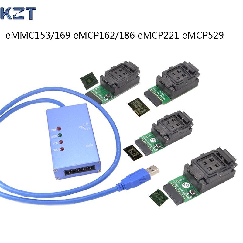 EMMC153 169 EMCP162 186 EMCP221 EMCP529 prise 6 dans 1 outils de récupération de données pour android téléphone mem programmeur socket Haute qualité