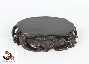 solid wood carving vase furnishing articles household act the role ofing is tasted annatto handicraft stone Buddha base rosewood carving annatto handicraft circular base of real wood of buddha stone are recommended vase furnishing articles