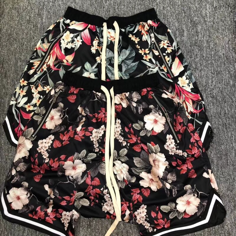 Top Version Fear Of God Fifth Collection Flower Printed Men Shorts Joggers Hiphop Fog Men fearofgod Causual Shorts Beach Shorts