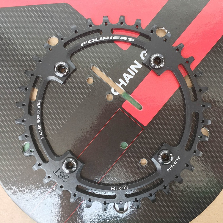 1pcs Black Fouriers Bicycle Single Chain Ring P.C.D 104mm 36T 4mm Bike Chainrings Narrow-wide Teeth 1pcs black fouriers bicycle single chain ring p c d 104mm 32t 4mm bike chainrings narrow wide teeth