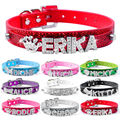 Bling personalizado mascota perro Collar diamantes de imitación personalizado nombre gratuito diamante hebilla XS S M L