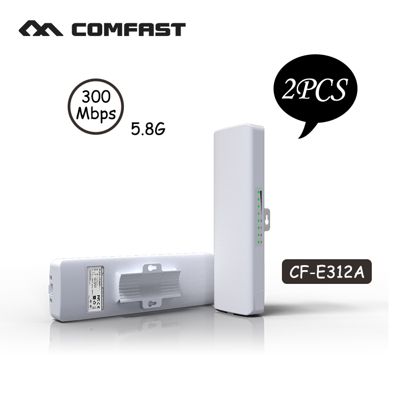 2PCS COMFAST 300Mbps Outdoor siganl booster amplifier 5.8Ghz 14dBi Outdoor Wifi Receiver CF-E312A For IP Camera Project comfast full gigabit core gateway ac gateway controller mt7621 wifi project manager with 4 1000mbps wan lan port 880mhz cf ac200