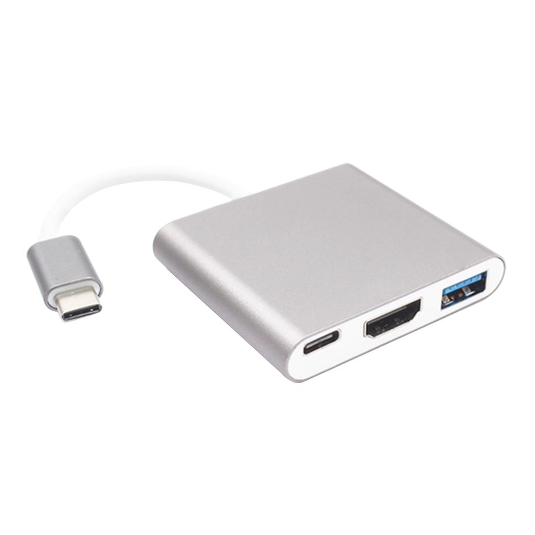 New USB 3.0 Type C Hub (USB-C & Thunderbolt 3 Ports Compatible) to USB 3.0/ HDMI/ Type C Female Charger Adapter Converter usb 3 1 type c usb c multiple 3 ports 3 0 hub