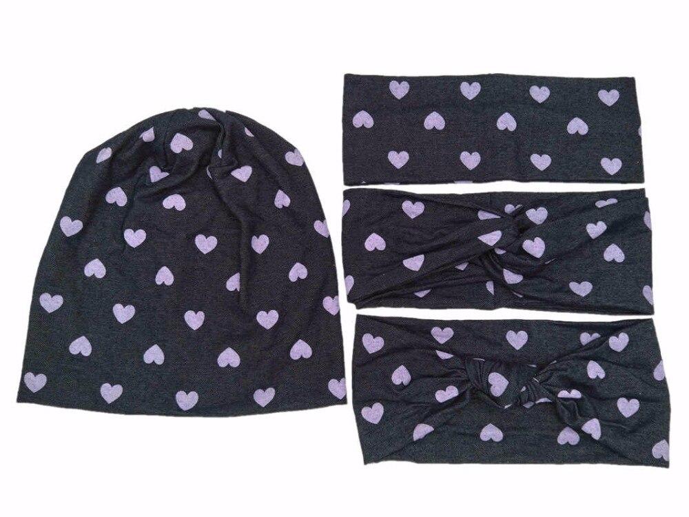 S1850011 date ensemble bon coton stretch et denim mode beaucoup de rose amour chapeaux bandeau bandeau pour les femmes
