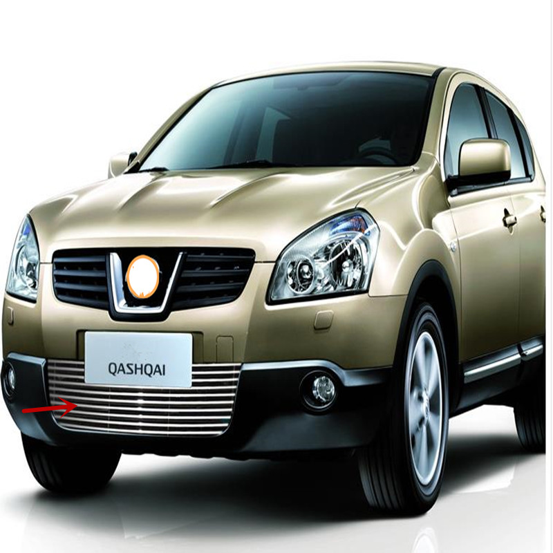 1PCS High Quality stainless steel Front Grille Trim For 2008-2012 Nissan Qashqai free shipping stainless steel front grille around trim racing grills trim for 2011 2012 kia rio k2