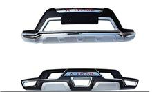 Front+ Rear Bumper board guard skid plate bar Protector for X-Trail 2014-2015