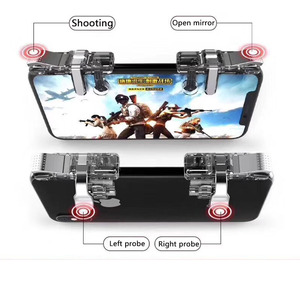 Image 5 - New U9 2Pcs Six finger Pubg Mobile Controller Smart Phone Mobile Gaming Trigger Button L1 R1 Shooter Aim Key Gamepad Joystick