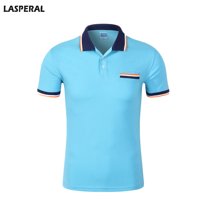 LASPERAL Casual Polo Shirt Men Fashion 2017 Short Sleeve Quick Dry Top Commercial Business Men Polo Shirt Male Big Size Summer