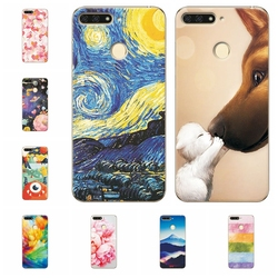 Soft Fundas For Huawei Y6 Prime 2018 Scenery Phone Case For Huawei Y 6 Prime 2018 Capa Soft TPU Silicone Cover Cases 5.7