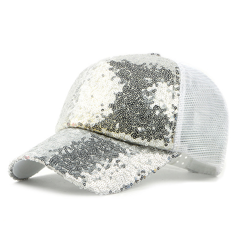 separation shoes e57c0 e2d3f Mesh Baseball Cap Women Summer Hat Mesh Caps with Sequins Decoration   AKIZON
